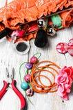 Alicates, gotas, y accesorios para mujer Imagenes de archivo