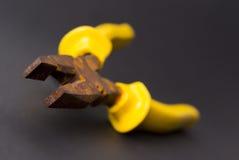 Alicates oxidados realmente viejos Foto de archivo libre de regalías