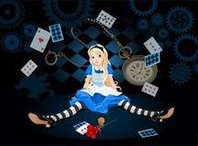 Alice στην έκπληξη διανυσματική απεικόνιση