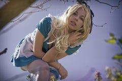 Alice στη χώρα των θαυμάτων Στοκ Εικόνα