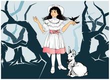 Alice au pays des merveilles Images stock