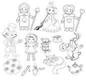 Alice au pays des merveilles coloration Illustration de vecteur illustration de vecteur