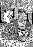 Alice and Cheshire Cat Stock Image