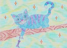 Alice cheshire katt stock illustrationer