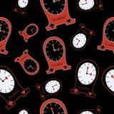 Alice Clocks inconsútil del país de las maravillas Foto de archivo