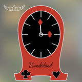 Alice Clocks from Wonderland World Stock Photos