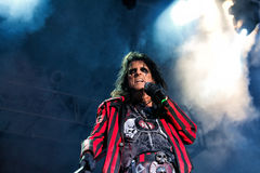 Alice Cooper no concerto foto de stock royalty free