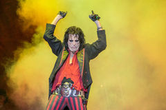 Alice Cooper's horror show. At Metalfest 2014 Royalty Free Stock Images