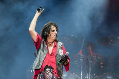 Alice Cooper's horror show Royalty Free Stock Photography
