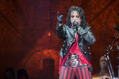 Alice Cooper's horror show Royalty Free Stock Photos