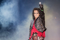 Alice Cooper's horror show Royalty Free Stock Image