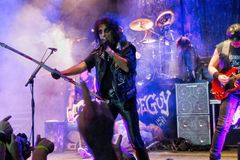 Alice Cooper on stage during rock concert stock photography
