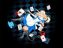 Alice de queda Foto de Stock Royalty Free
