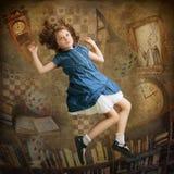 Alice, die unten fällt Stockfoto