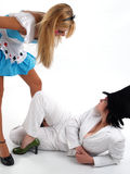 Alice et costumes fous de chapelier Photo stock
