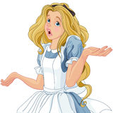 Alice Extremely Confused illustration stock