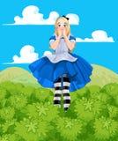 Alice Grow-up. Illustration of Alice from Wonderland Stock Photo