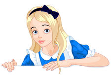Alice Holds Sign illustration libre de droits
