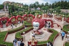 Alice i underlandlabyrint i Shanghai Disneyland, Kina fotografering för bildbyråer