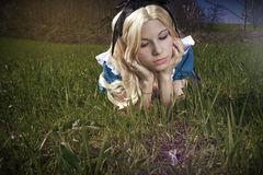 Alice im Märchenland stockbild