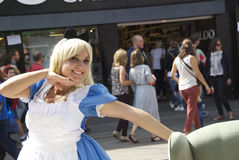 Alice im Märchenland in Camden, London, England stockbilder