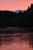 Alice Lake. In British Columbia at sunset Royalty Free Stock Photos