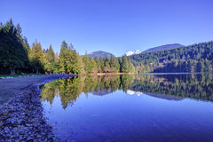Alice lake at winter time Royalty Free Stock Image