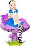 Alice nel paese delle meraviglie Immagini Stock