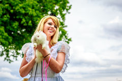 Alice nel paese delle meraviglie Immagine Stock