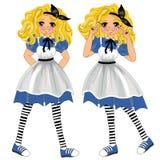 Alice nel paese delle meraviglie royalty illustrazione gratis