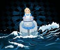 Alice no frasco ilustração stock