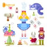 Alice no país das maravilhas Foto de Stock