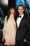 """Alice Parkinson,Rhys Wakefield. LOS ANGELES - JAN 31:  Alice Parkinson; Rhys Wakefield arrives at the """"Sanctum"""" Premiere at Mann's Chinese 6 Theaters on January Stock Image"""