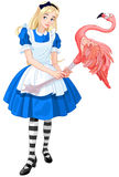 Alice Plays Croquet royalty free illustration