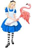 Alice Plays Croquet Royalty Free Stock Photos