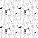 Alice sömlös textur Fotografering för Bildbyråer