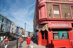 Alice's antique store on Portobello Road, London. LONDON, ENGLAND - JULY 15, 2013 : Portobello Road tourists and pedestrians with interesting store, Alices on Stock Photo