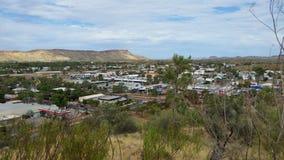 Alice Springs-cityscape Stock Afbeeldingen