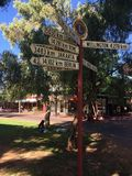 Alice Springs distances Royalty Free Stock Images