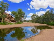 Alice Springs in het midden van Australië stock foto