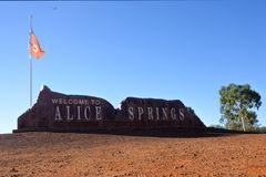 Alice Springs Northern Territory Australia stockfotos