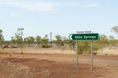 Alice Springs Road Sign - Australia Royalty Free Stock Photography