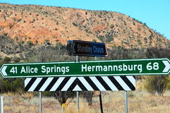Alice Springs Sign Post Arkivbild
