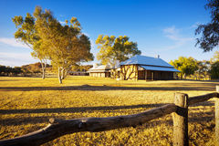 Alice Springs telegrafstation Royaltyfria Bilder
