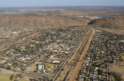 Alice Springs. The town on Alice Springs in the Northern Territory of Australia Stock Photo