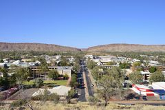 Alice Springs, View From Anzac Hill. Royalty Free Stock Photo