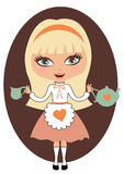 Alice in sprookjesland Stock Afbeelding