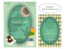 Alice in sprookjesland De gekke Uitnodiging van de theekransjeverjaardag Royalty-vrije Stock Fotografie