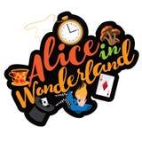 Alice text design. Stock Photos