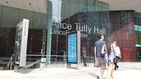 Alice Tully Hall. A concert hall at the Lincoln Center for the Performing Arts in New York City stock footage